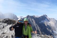 Alpspitze mit Blick auf den Jubiläumsgrat